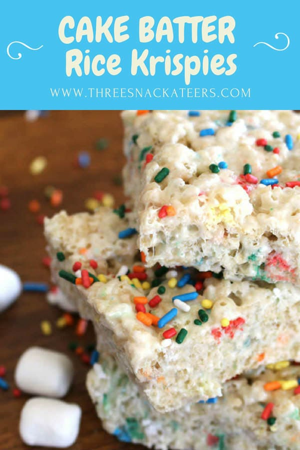 Cake Batter Rice Krispies