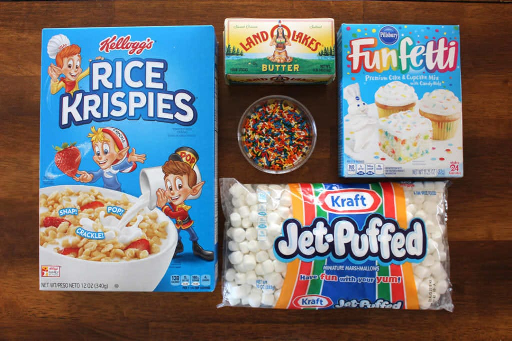 Cake Batter Rice Krispies Ingredients