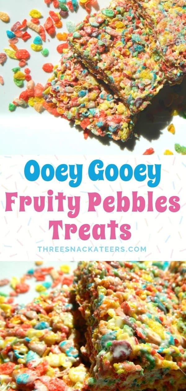 Fruity Pebble Krispie Cereal Treats