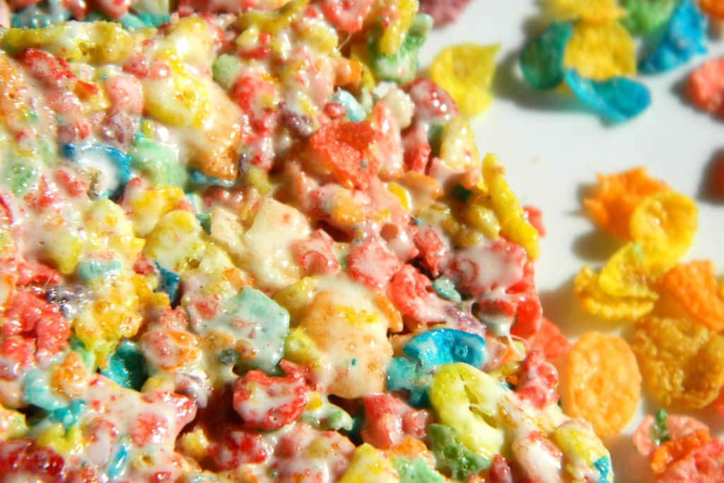 Fruity Pebble Krispie Treats