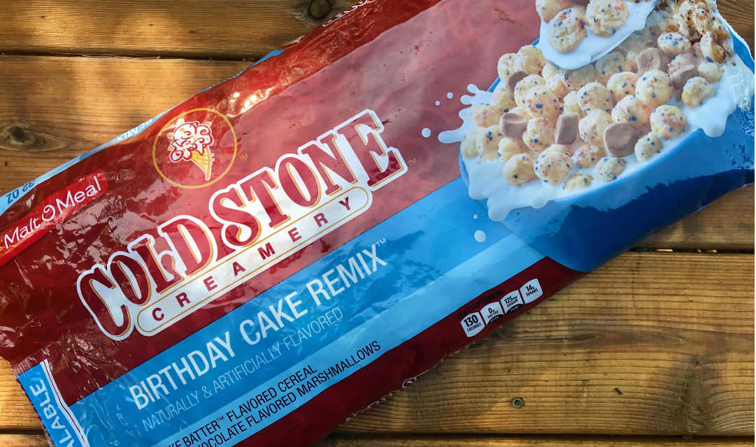 Cold Stone Creamery Birthday Cake Remix Cereal Review The Three