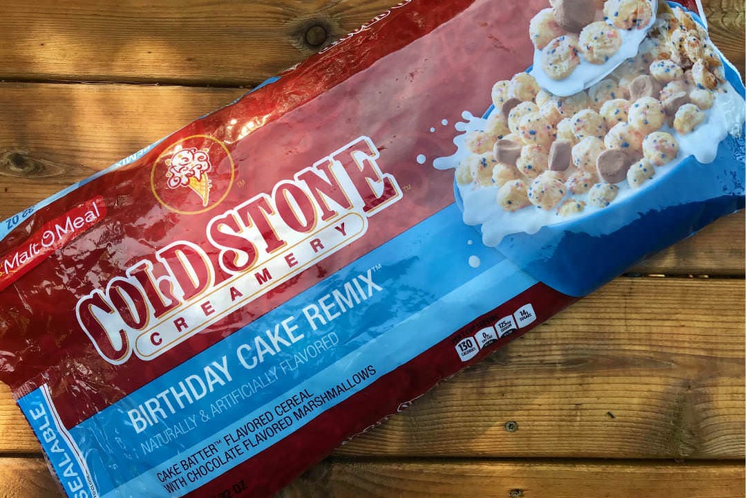 Tremendous Cold Stone Creamery Birthday Cake Remix Cereal Review The Three Personalised Birthday Cards Rectzonderlifede
