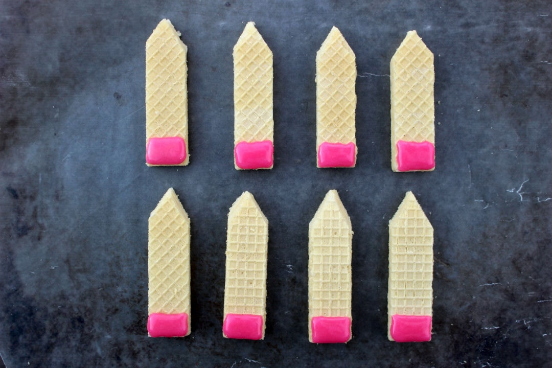 Back To School Pencil Wafer Cookies 4