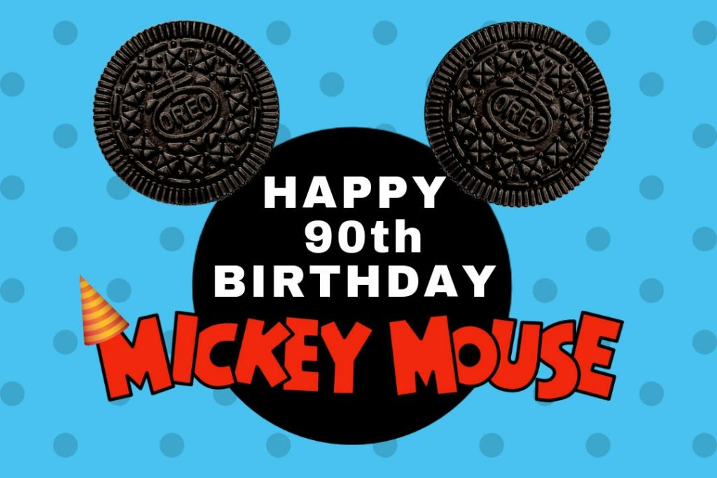 Happy Birthday Mickey Mouse Oreo homepage