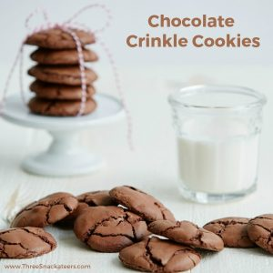 Chocolate Crinkle Cookies square