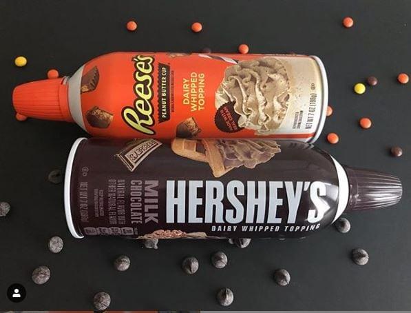 Reeses Hersheys Whipped Cream