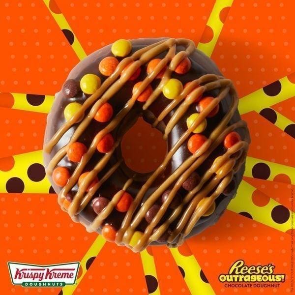 Reeses Outrageous Krispy Kreme Doughnut