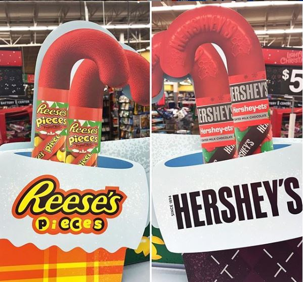 Reeses Pieces Hershey Candy Cane