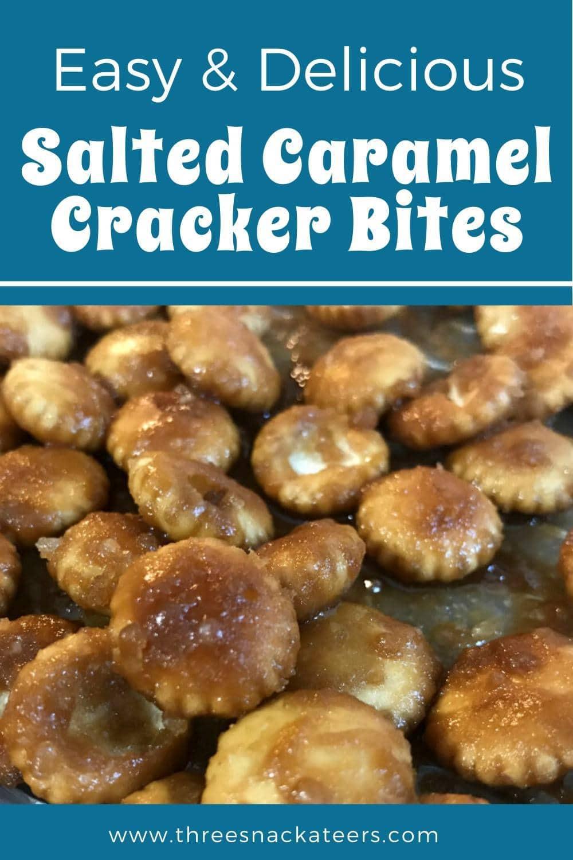 Salted Caramel Oyster Cracker Bites
