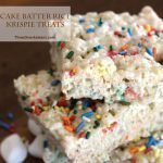 Cake Batter Rice Krispies Square Image