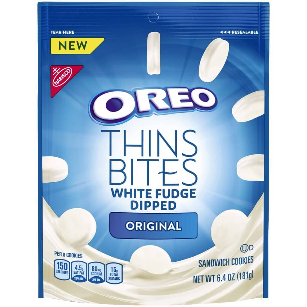 Oreo Thin Bites White Fudge Dipped