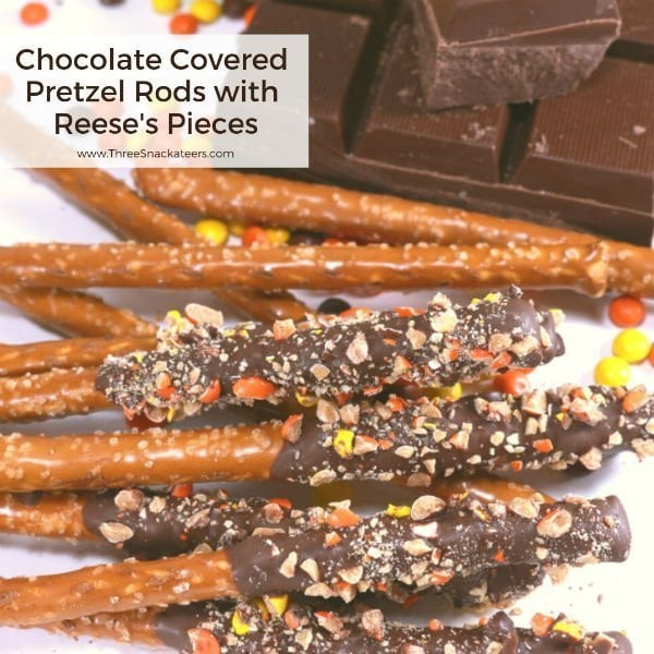 Reese's Chocolate Covered Pretzel Rods Square