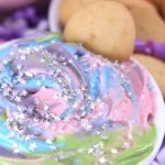 This magical Unicorn Party Dip is a colorful and fun, no-bake dessert dip! You need a few simple ingredients and less than 10 minutes to make this delicious, rainbow dip.