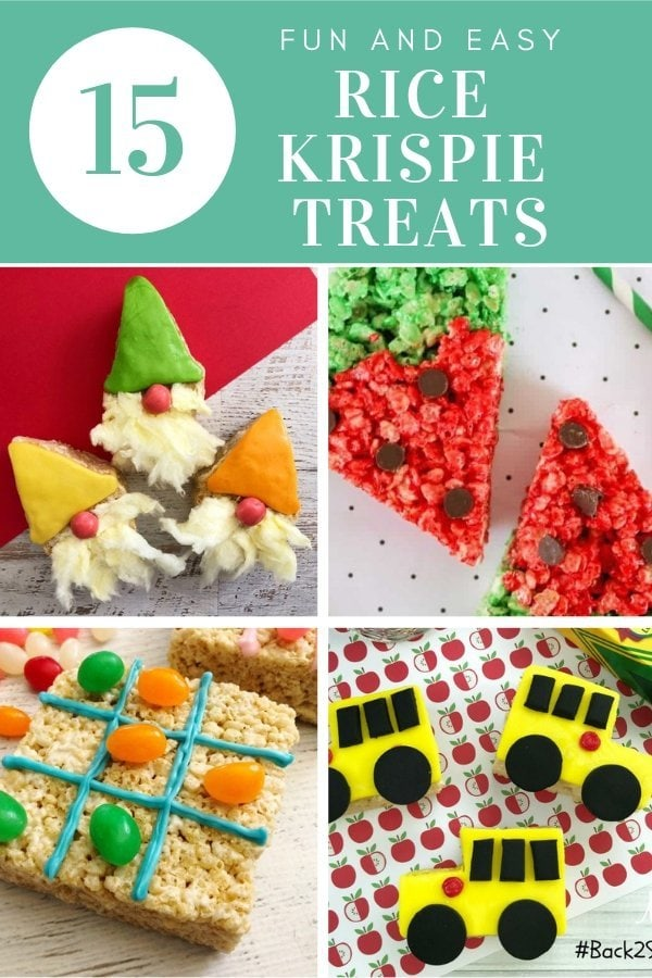 15 Fun and Easy Rice Krispie Treats