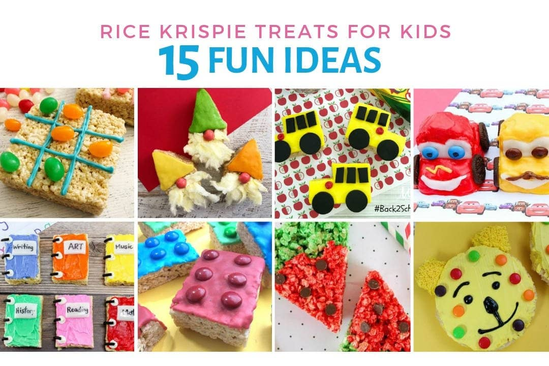 Fun And Easy Rice Krispie Treats For Kids The Three Snackateers