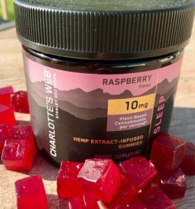 Charlottes Web CBD Calm Gummies Product - Raspberry Flavor