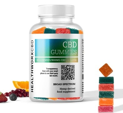 Healthworx CBD Gummies Broad Spectrum CBN CBG CBC CBDV