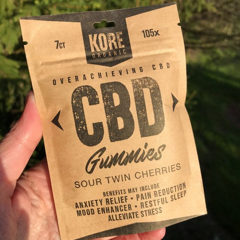 Kore Organic Sour CBD Gummies Pouch