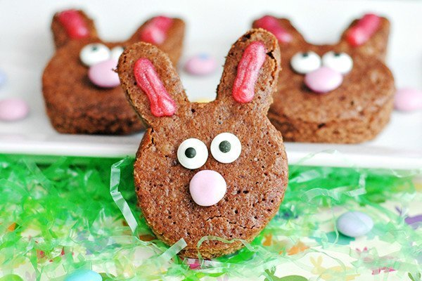 Brownie Easter Bunnies