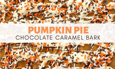 Pumpkin Pie Caramel Chocolate Bark