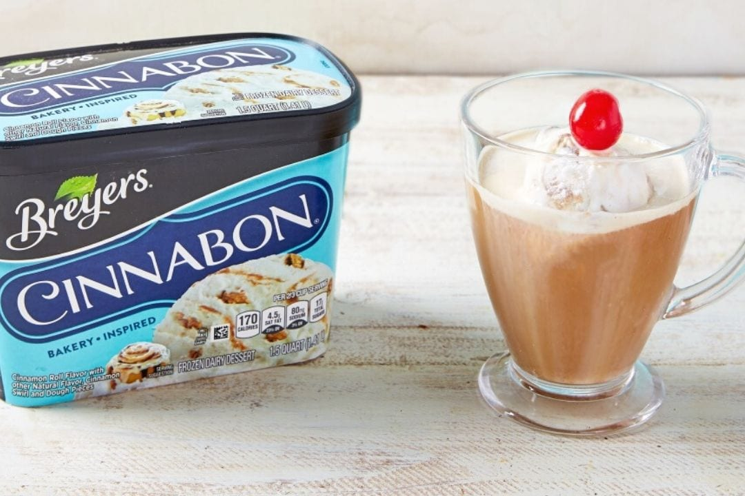 Breyers Cinnabon Affagato Coffee Dessert Feature