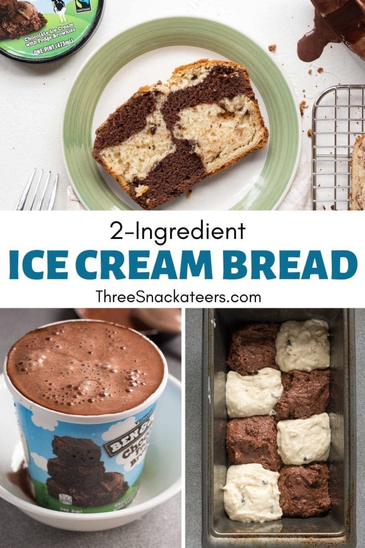 Amazing ice cream bread made with only 2 ingredients!