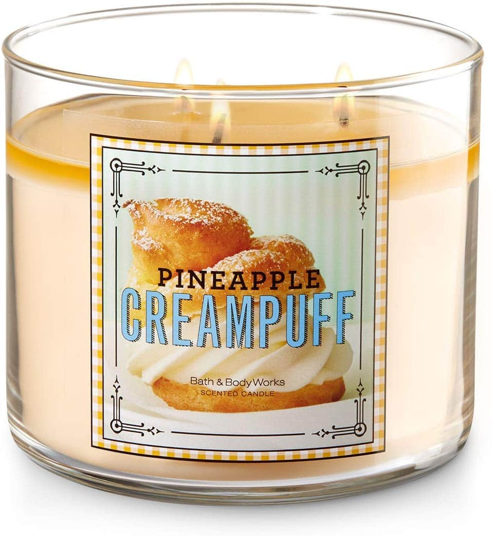 Bath and Body Works Pineapple Cream Puff Scented Candle