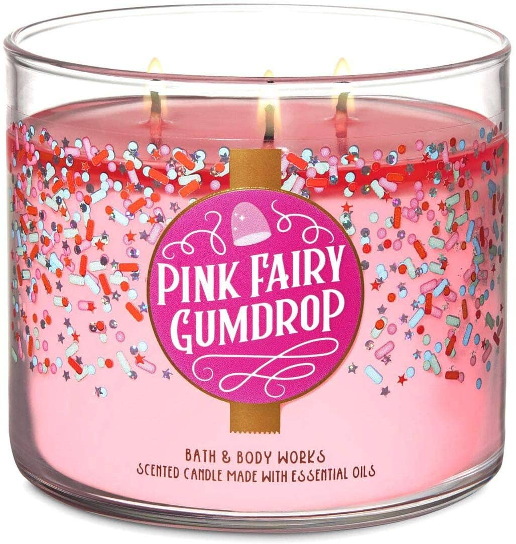 Bath and Body Works Pink Fairy Gumdrop Scented Candle