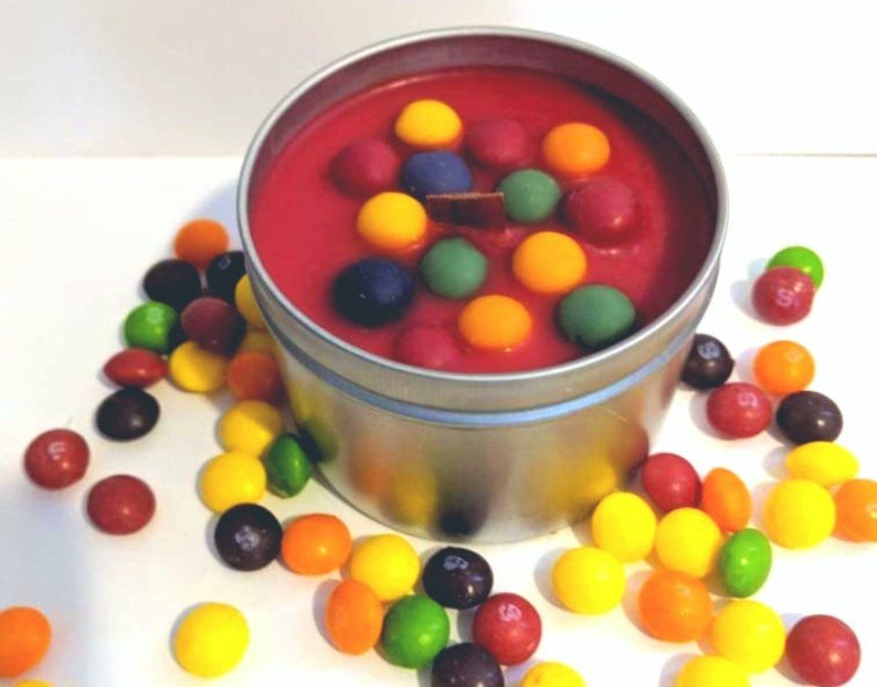 Skittles Scented Candle
