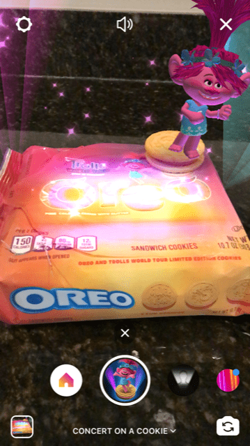 Trolls World Tour Oreo Cookies Augmented Reality Poppy Singing
