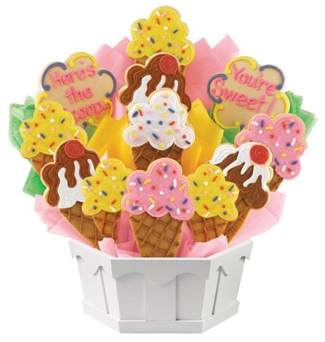 Cookies By Design Hand Decorated Cookie Bouquet