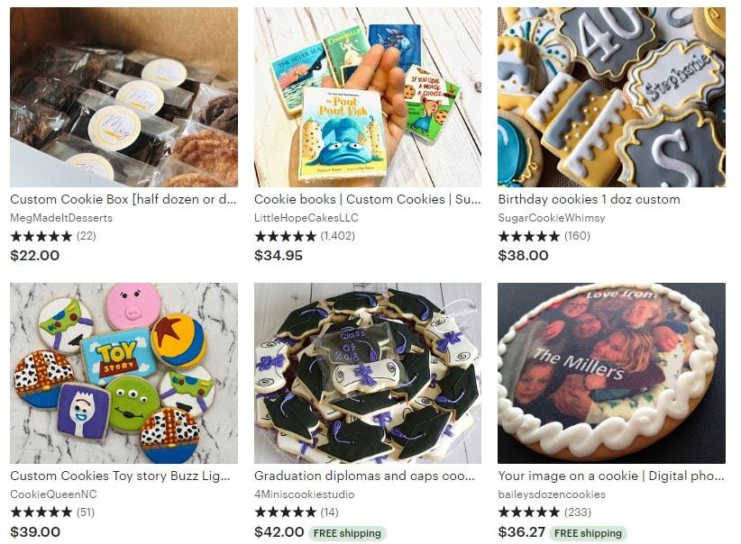 Etsy Custom Cookies