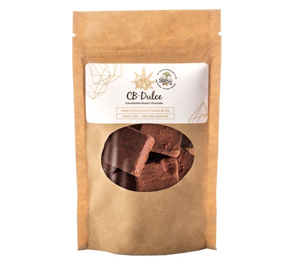 CB-Dulce 60mg CBD Oil Dark Chocolate Fudge Bites