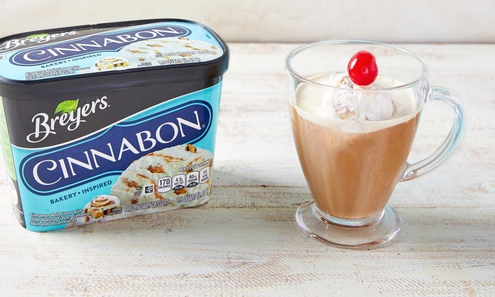 Breyers Cinnabon Affogato Cinnamon Coffee Drink 1