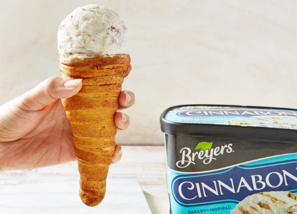 Breyers Cinnabon Cinnamon Roll Ice Cream Cone
