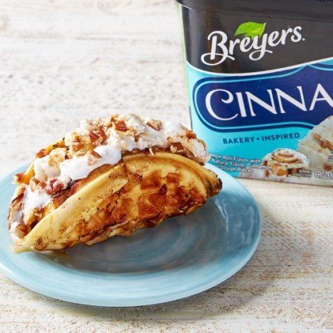 Breyers Cinnabon Cinnamon Roll Dough Waffle Taco
