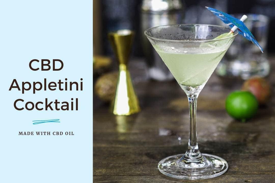 CBD Cocktail Appletini Apple Martini