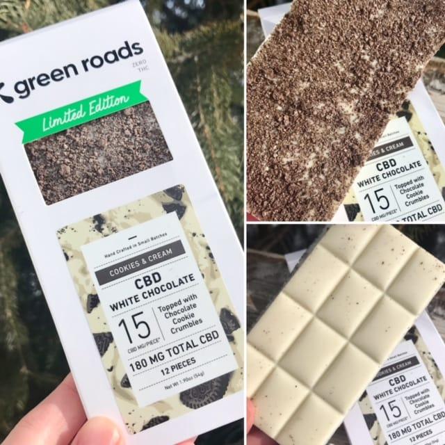 Green Roads White Chocolate CBD Bar