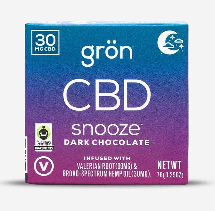 Grön CBD Snooze Adaptogenic Dark Chocolate 30mg Broad Spectrum