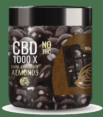 R.A. Royal Sweets 1000x CBD Dark Chocolate Cocoa Almonds