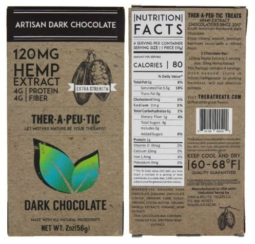 Therapeutic CBD Dark Chocolate Bar