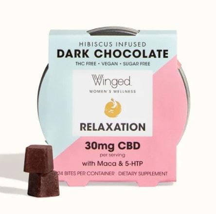 Winged Womens Wellness Vegan CBD Dark Chocolate