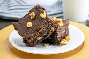 Fudgy Chocolate Walnut Brownie From Scratch