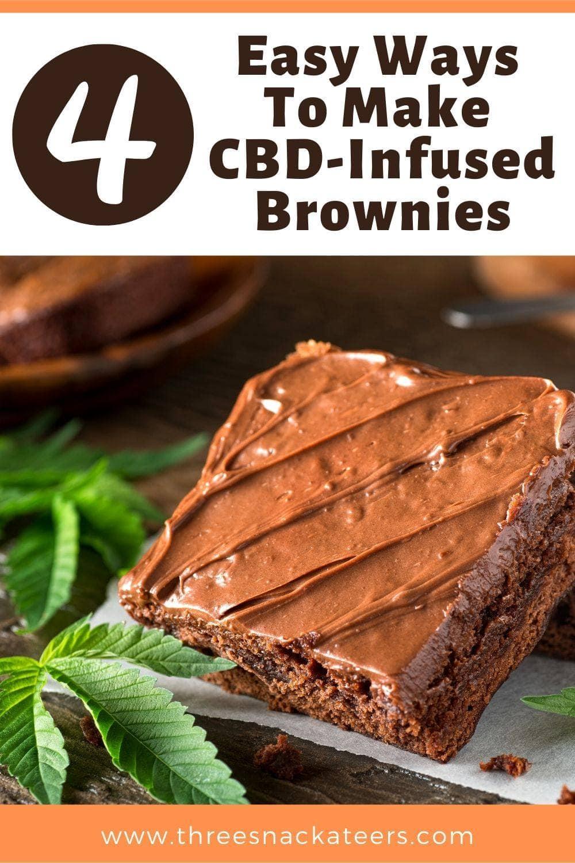 4 Easy Ways To Make CBD Brownies Pin (1)