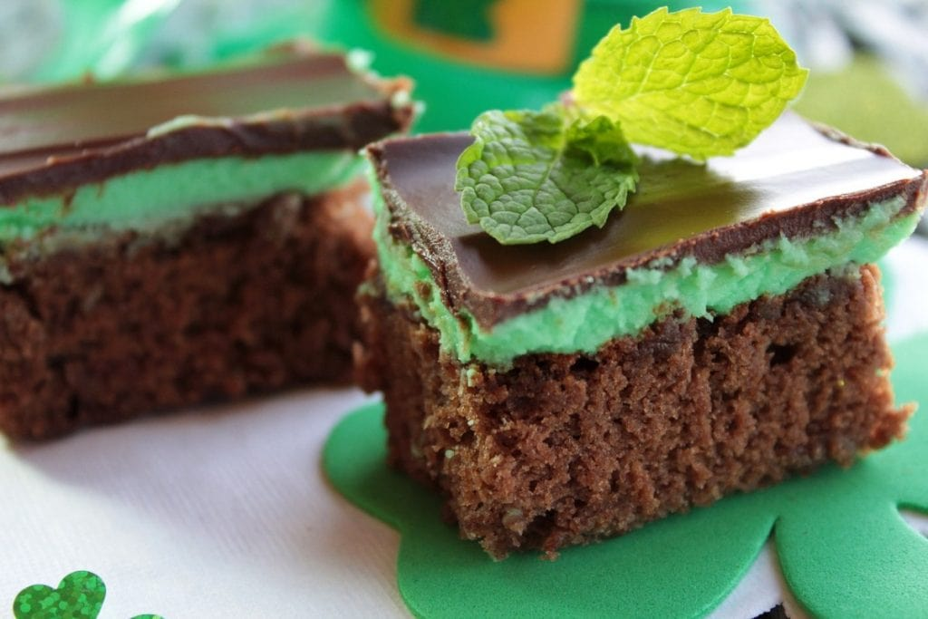 mint brownies made with CBD oil