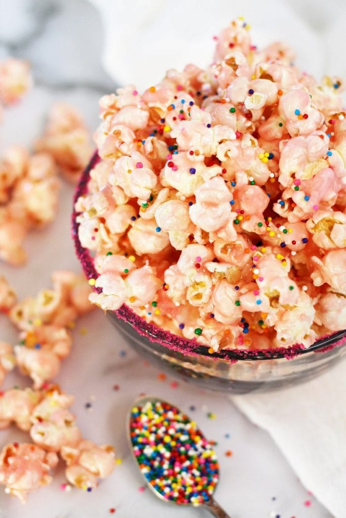 fun and easy pink popcorn recipe