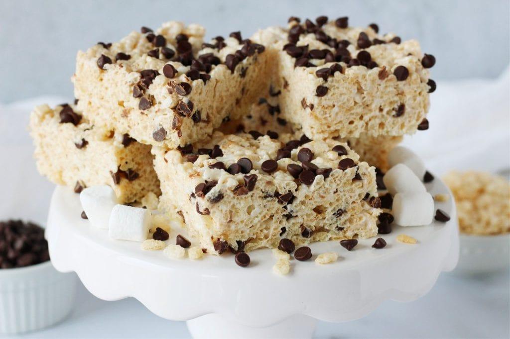 chocolate chip rice krispie treats