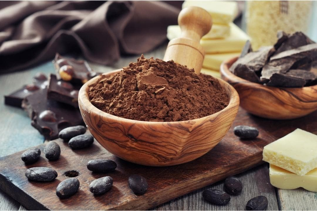 Cocoa Powder and Chocolate For Hot Cocoa