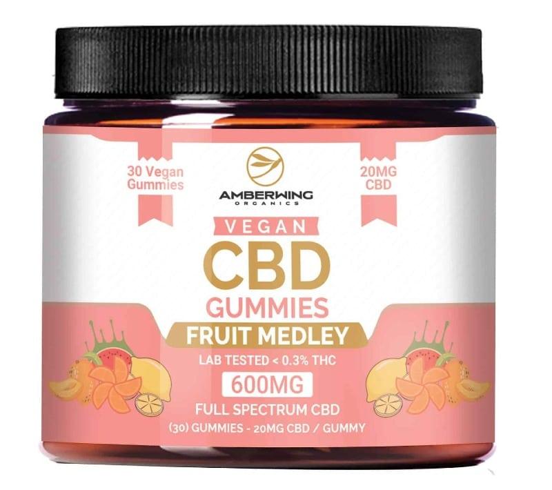 Amberwing Organics Full Spectrum Vegan CBD Gummies