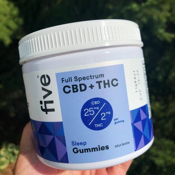 Five CBD THC Full Spectrum Sleep Gummies New